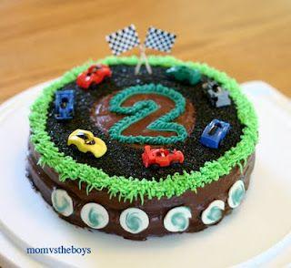 Race Car Birthday Cake Instructions Race car birthday Birthday