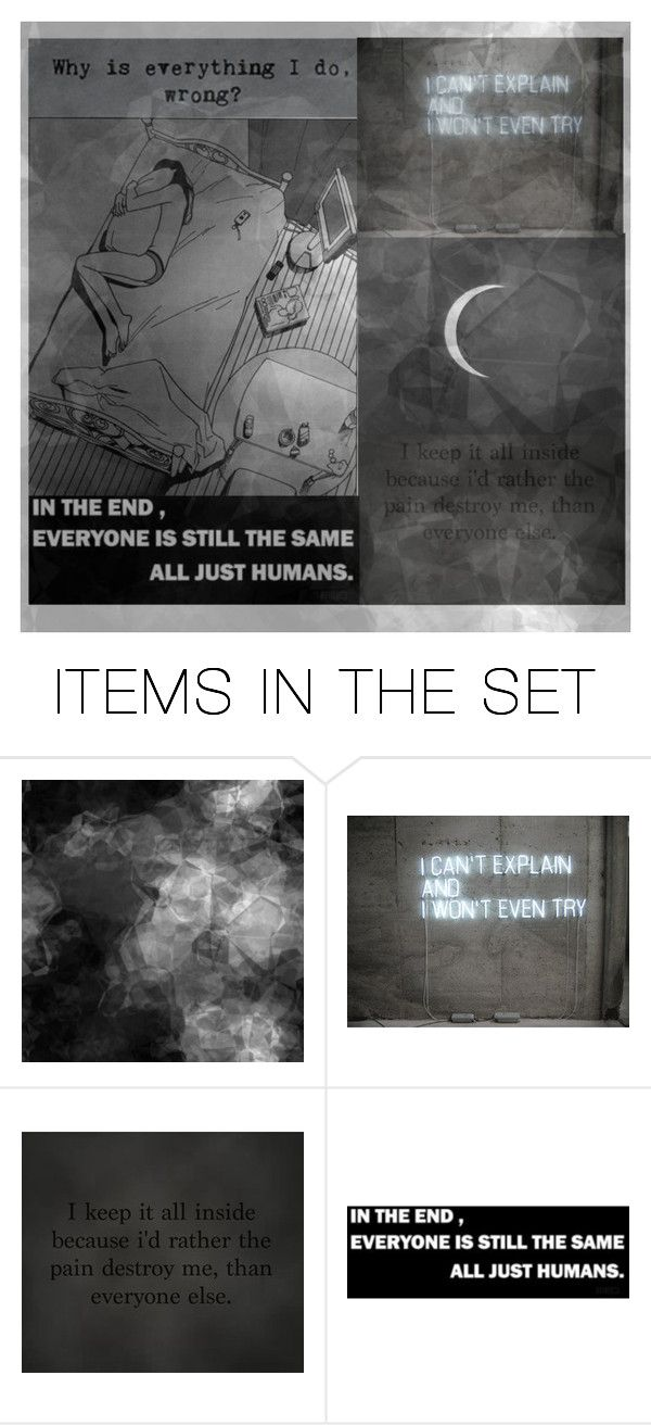"""Why Can't I Just Be Enough For Someone?"" by x-shadow-phoenix-x ❤ liked on Polyvore featuring art"