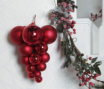 Surtido de 25 bolas rojas decorativas en varias medidas - Leroy Merlin