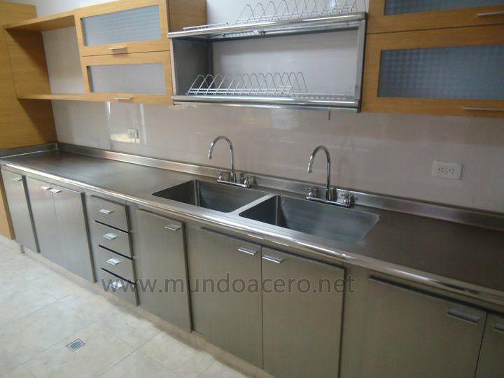 Meson acero inoxidable buscar con google laboratory - Mobiliario cocina industrial ...