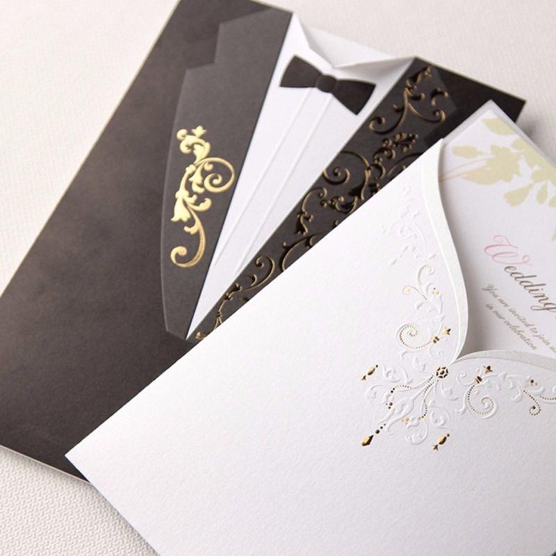 tarjetas de invitaciones de boda elegante