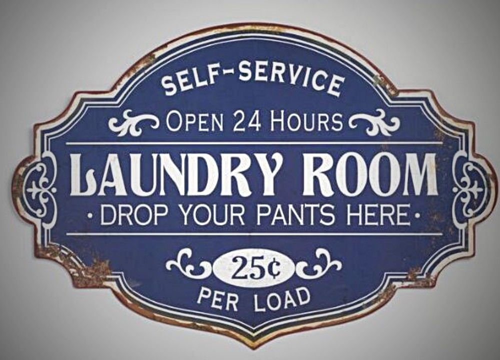 Details About Vintage Retro Metal Laundry Room Sign Wall Plaque Distressed Blue Humorous Laundry Room Laundry Room Signs Room Signs