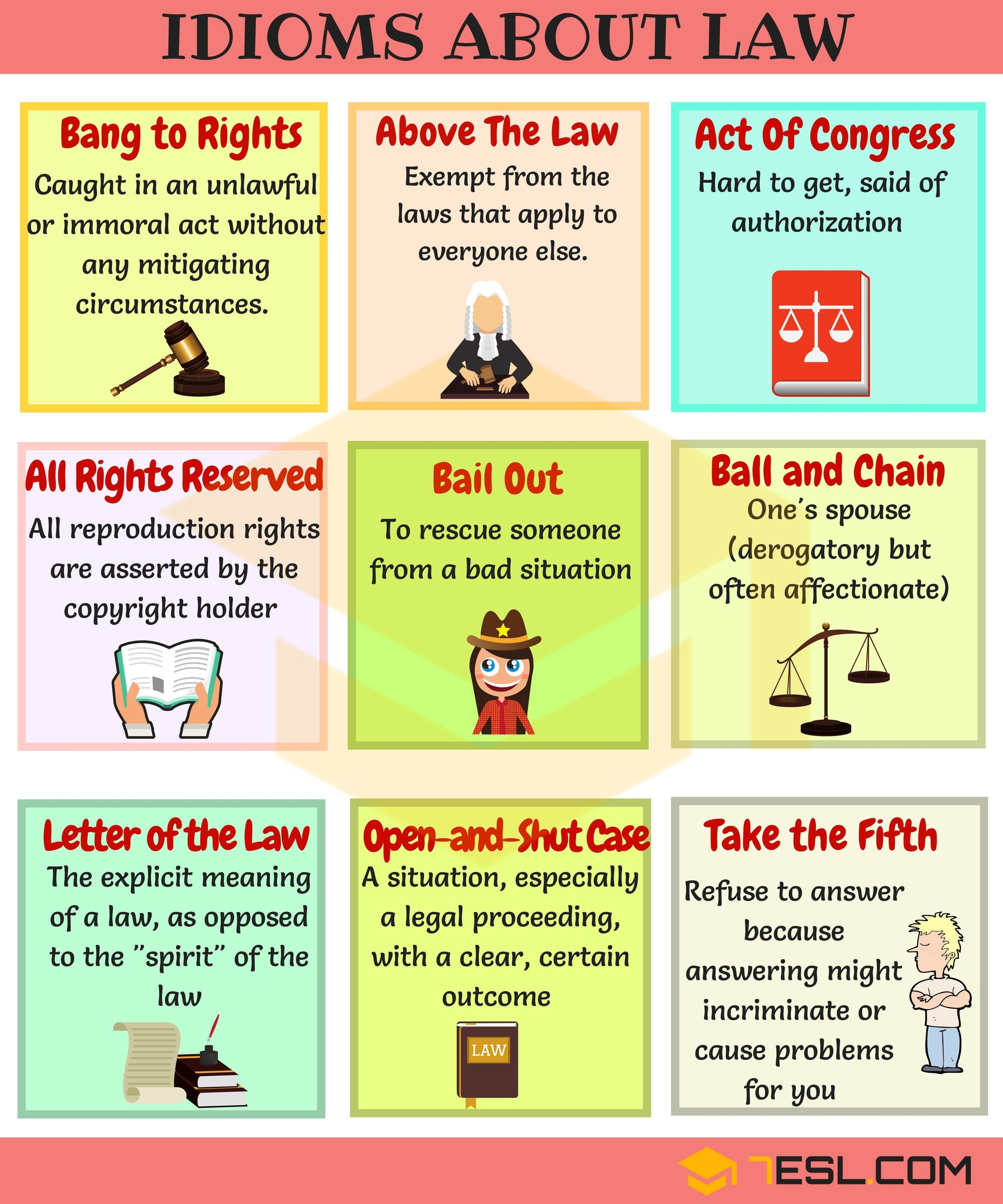 Useful Legal Law Idioms Sayings And Phrases Idioms And