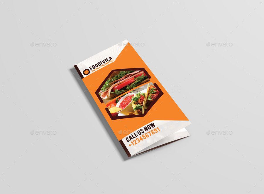 Foodivila Tri Fold Food \ Restaurant Brochure Template Design - restarunt brochure