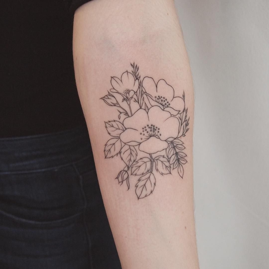 Wildflower bundle - Tattoo People Toronto - Jess Chen