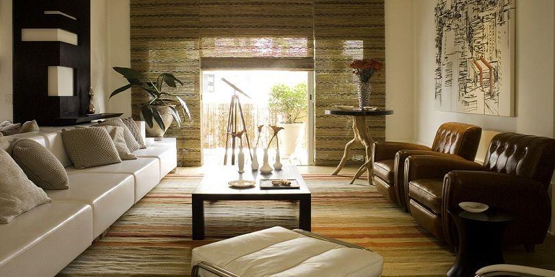 Zen Style Living Room Decor Ideas with Sectional Sofa and Wooden Flooring # zen #zenideas & Zen Style Living Room Decor Ideas with Sectional Sofa and Wooden ...