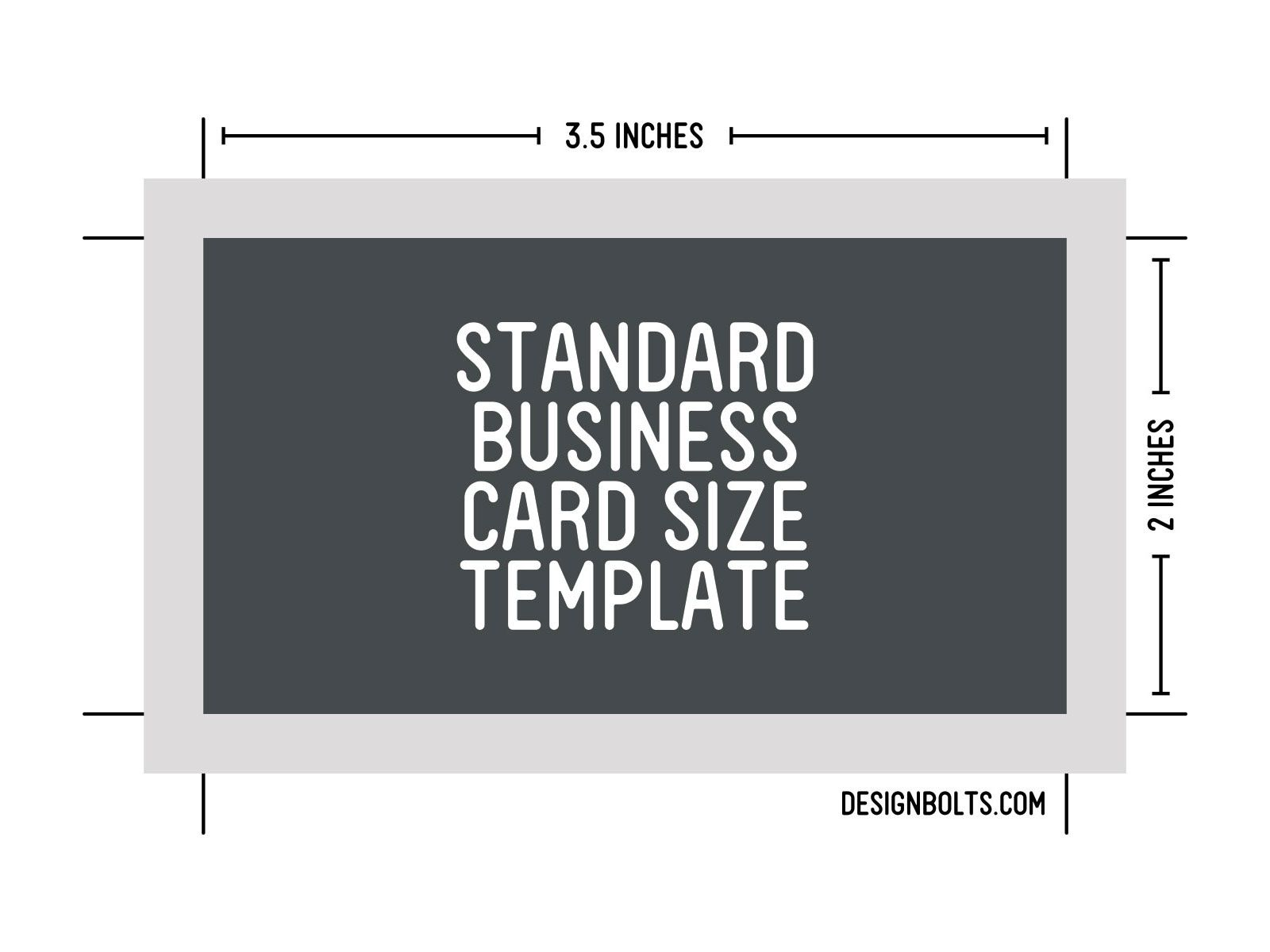 standard business card size - Resumess.memberpro.co