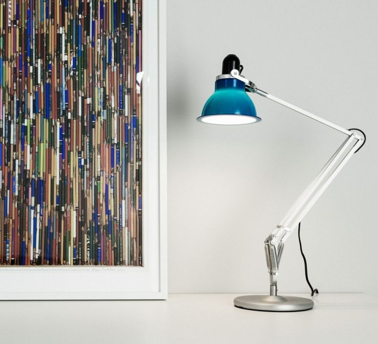 Lampe De Bureau Type 1228 Bleu Marine H53cm Anglepoise Lampe Architecte Lampe De Bureau Luminaire Design