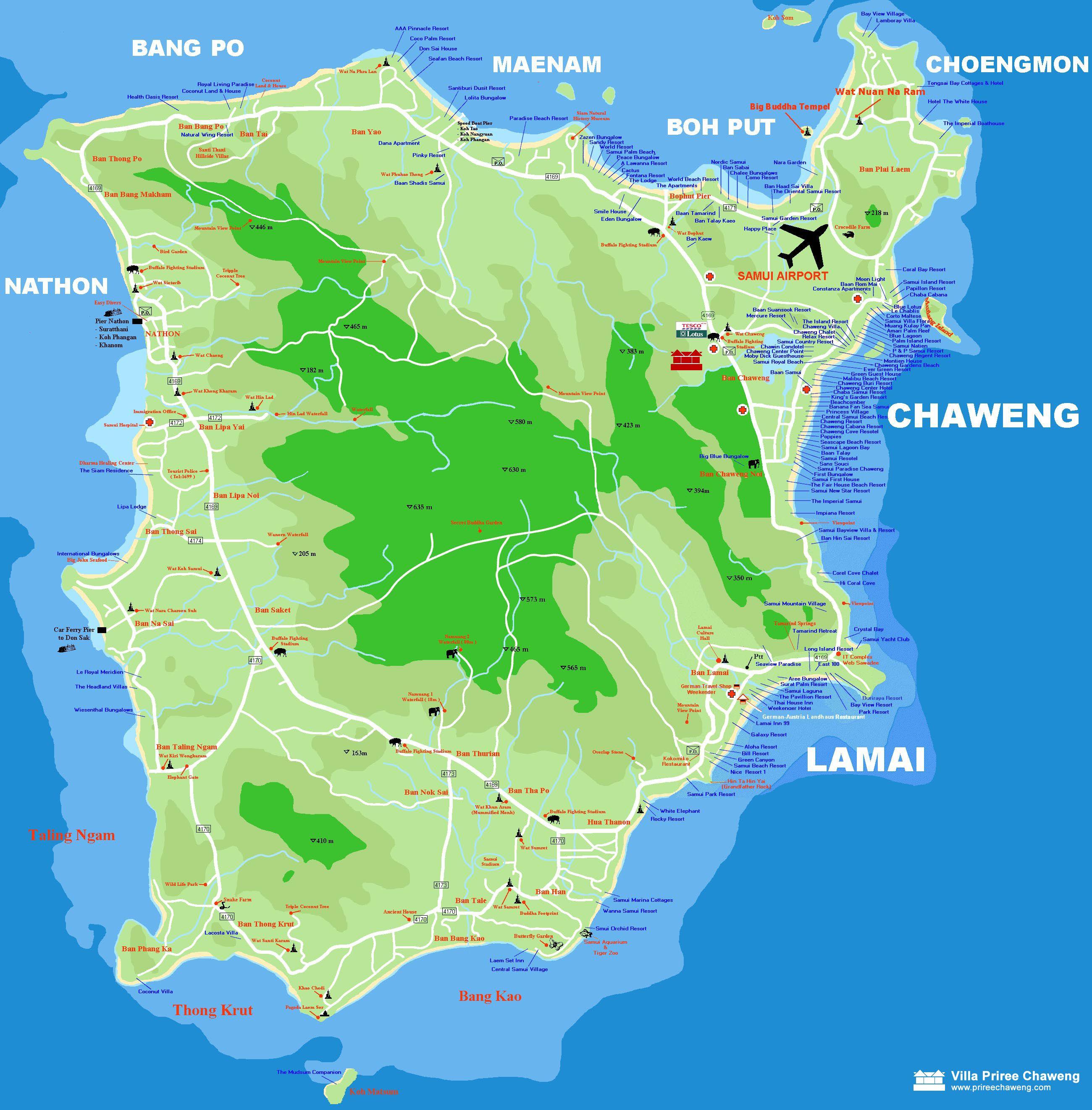 Samui Map KohSamui Wander Koh Samui Ko Tao Pinterest Koh