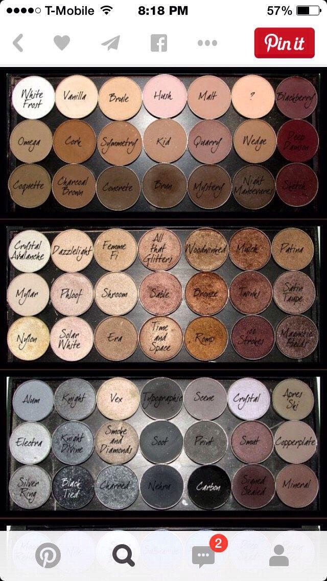 ALL Of MAC'S Eyeshadows Colors & Names💋 TipIt Eyeshadow
