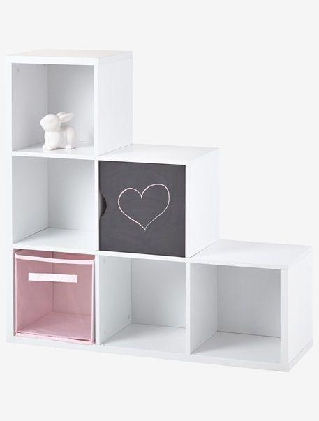 Mueble de almacenaje 6 casilleros - Blanco+Gris - 1 | casa ...