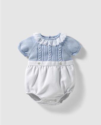 1549a9b84 Ranita combinada de bebé niño Dulces en azul | Mi MAX | Patrón ...