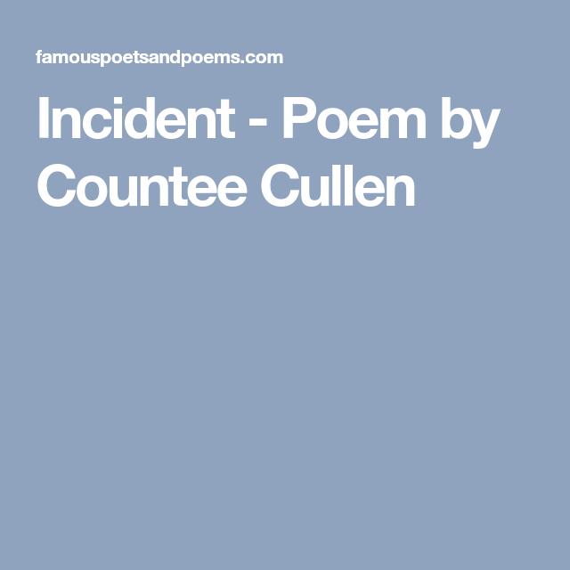 incident countee