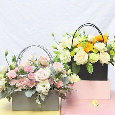 Advertisement – Bolsa de papel de Kraft caja de flores bolso impermeable ramo fl…