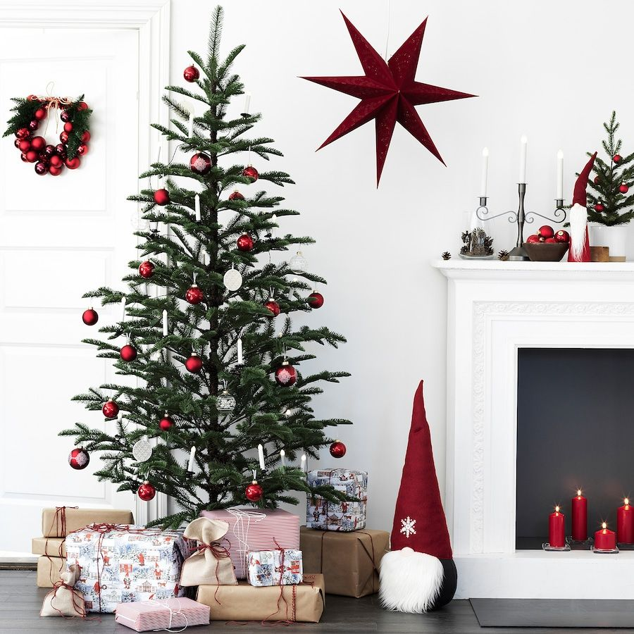Vinter 2020 Artificial Plant Indoor Outdoor Christmas Tree Green Ikea In 2020 Outdoor Christmas Tree Red Christmas Decor Green Christmas Tree
