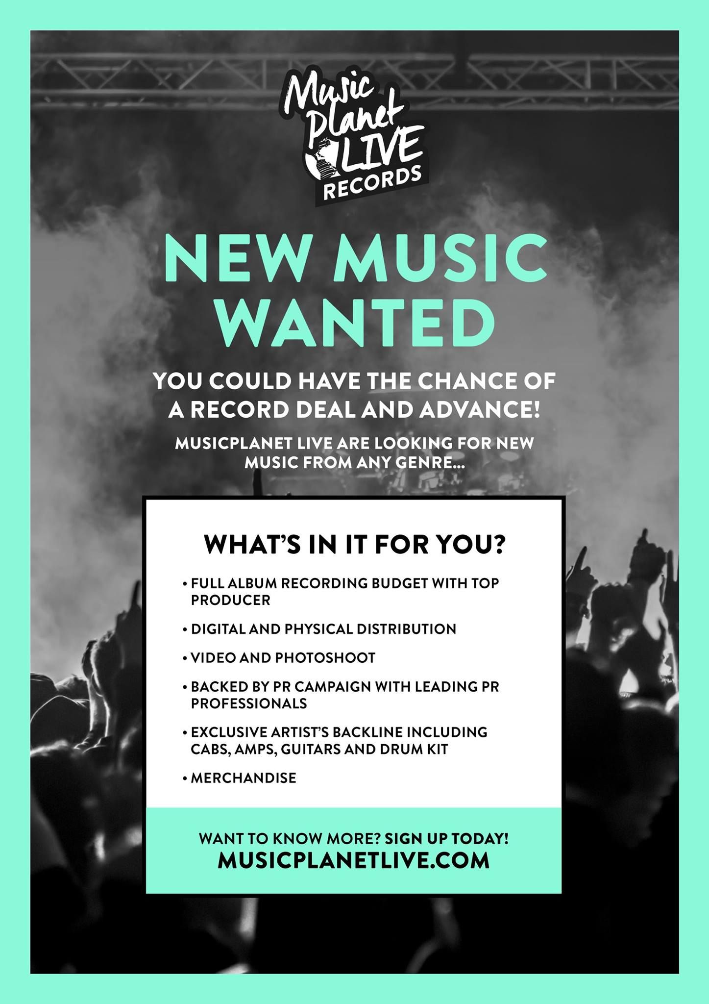 Poster Campaign For Music Planet Live Advertising New Social Media Hub And Promoting Record Label Competition Record Label Alternative Aesthetic Records