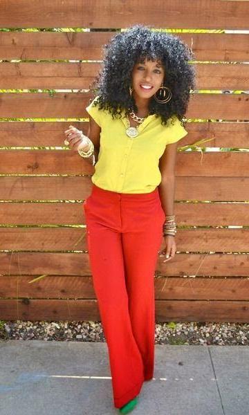 Look: Pantalona Vermelha