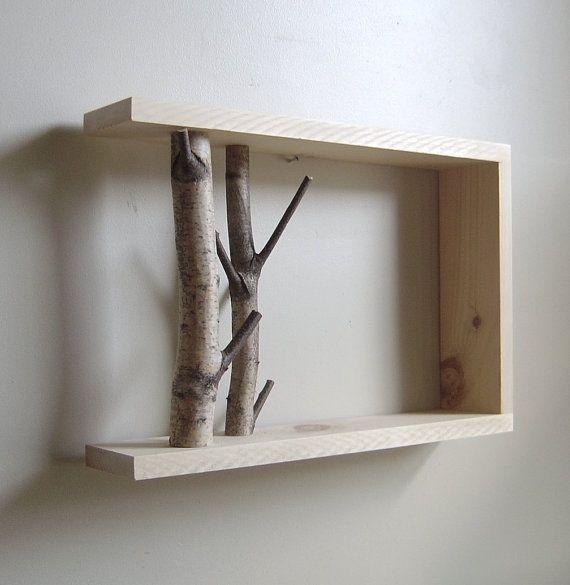 Tree Branch Shelf Art Shelves Forest Wall Art Decor