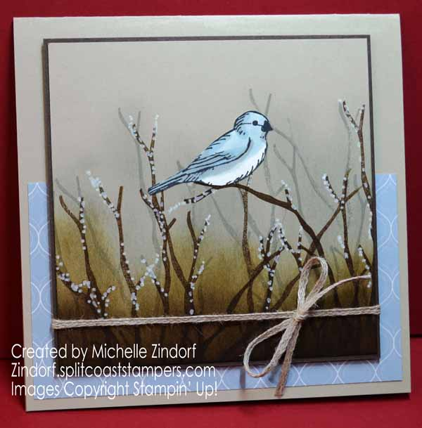 Blue Bird In The Thicket Masculine Card By Michelle