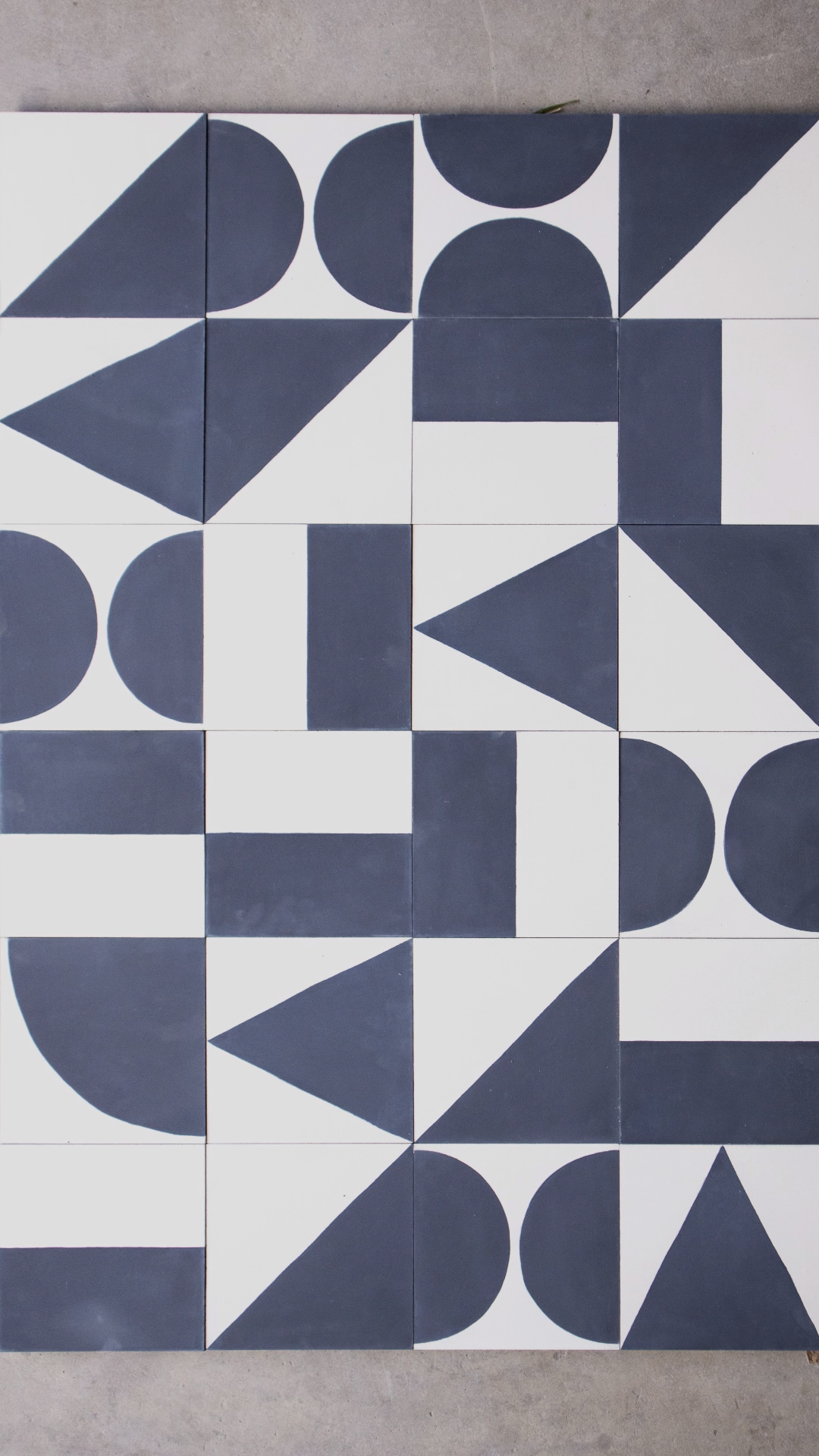 White blue cement tiles | MOSAIC FACTORY