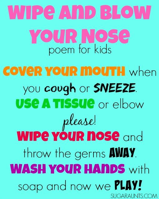 Teaching Kids to Stop Spreading Germs | Print..., Circles and For kids