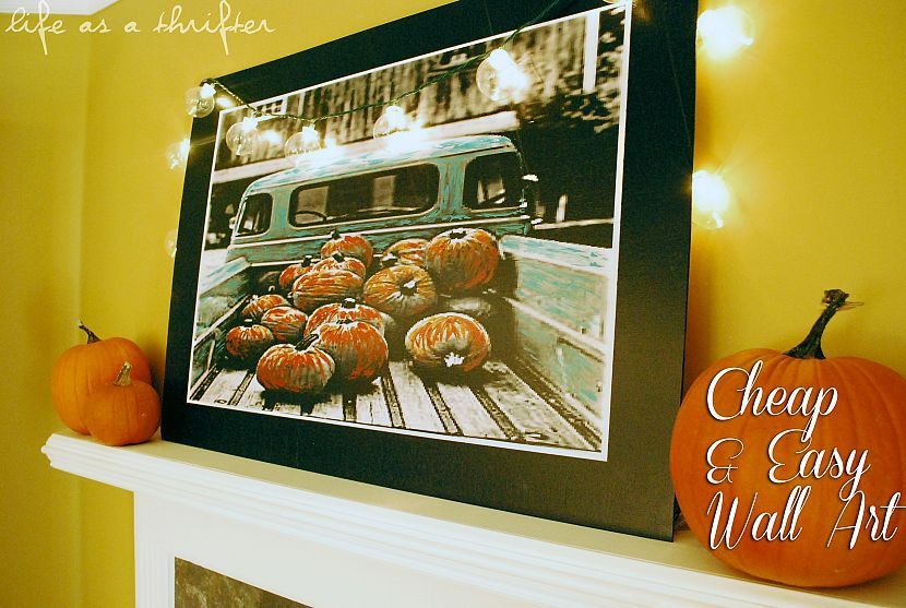 Inexpensive and easy wall art!