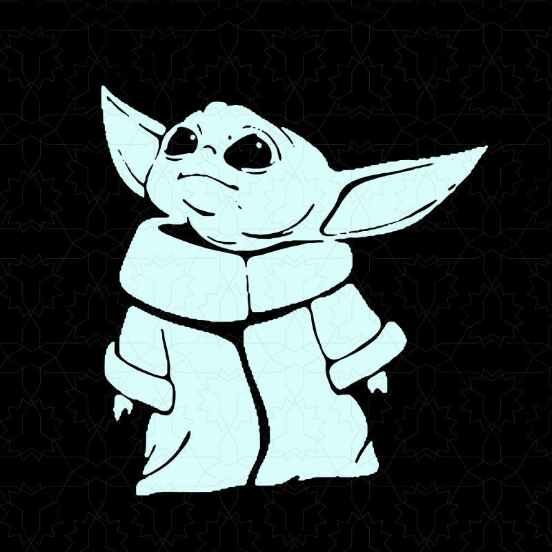 Baby Yoda Vector T Shirt Design For Download Yoda Decals Star Wars Art Cute Cartoon Wallpapers