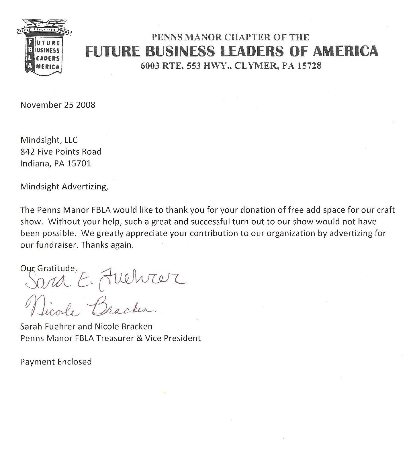 Thank You Business Letters Cover Letter Formatbusiness Letters