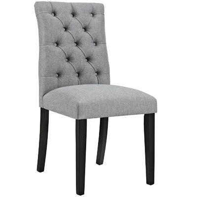 Modway Duchess Parsons Chair Upholstery: Fabric - Light Gray