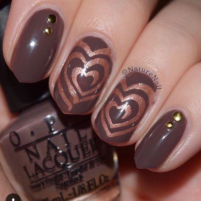 Love The Color Combo On This Heart Swirl Mani By Naturenail I