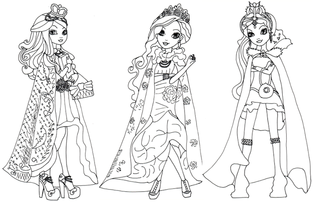 Free Printable Ever After High Coloring Pages Legacy Day Page