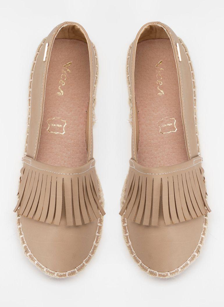 Ciemno Bezowe Espadryle Z Fredzlami April W Sklepie Deezee Pl Shoes Flats Fashion