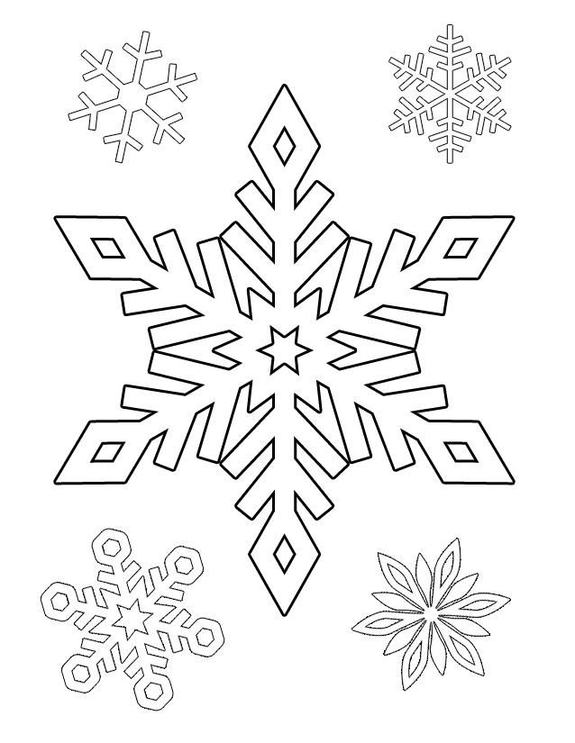 Winter coloring and activity Snowflake  Coloring Snowflakes and