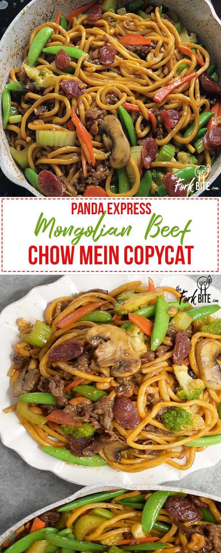 Mongolian Beef Recipe Panda Express Chow Mien Copycat Recipe