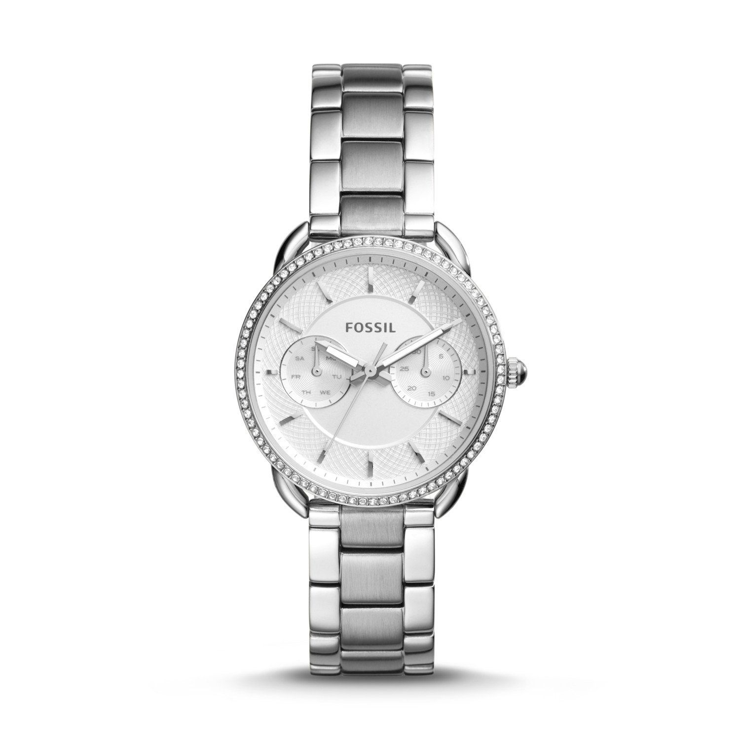 Fossil Bq1444 Silver Platinum Watch Tailor Multifunction Stainless Steel Es Fossils 1500x1500