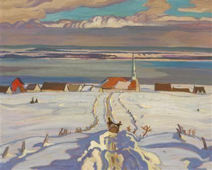 A.Y. Jackson - Winter, Quebec, 1926