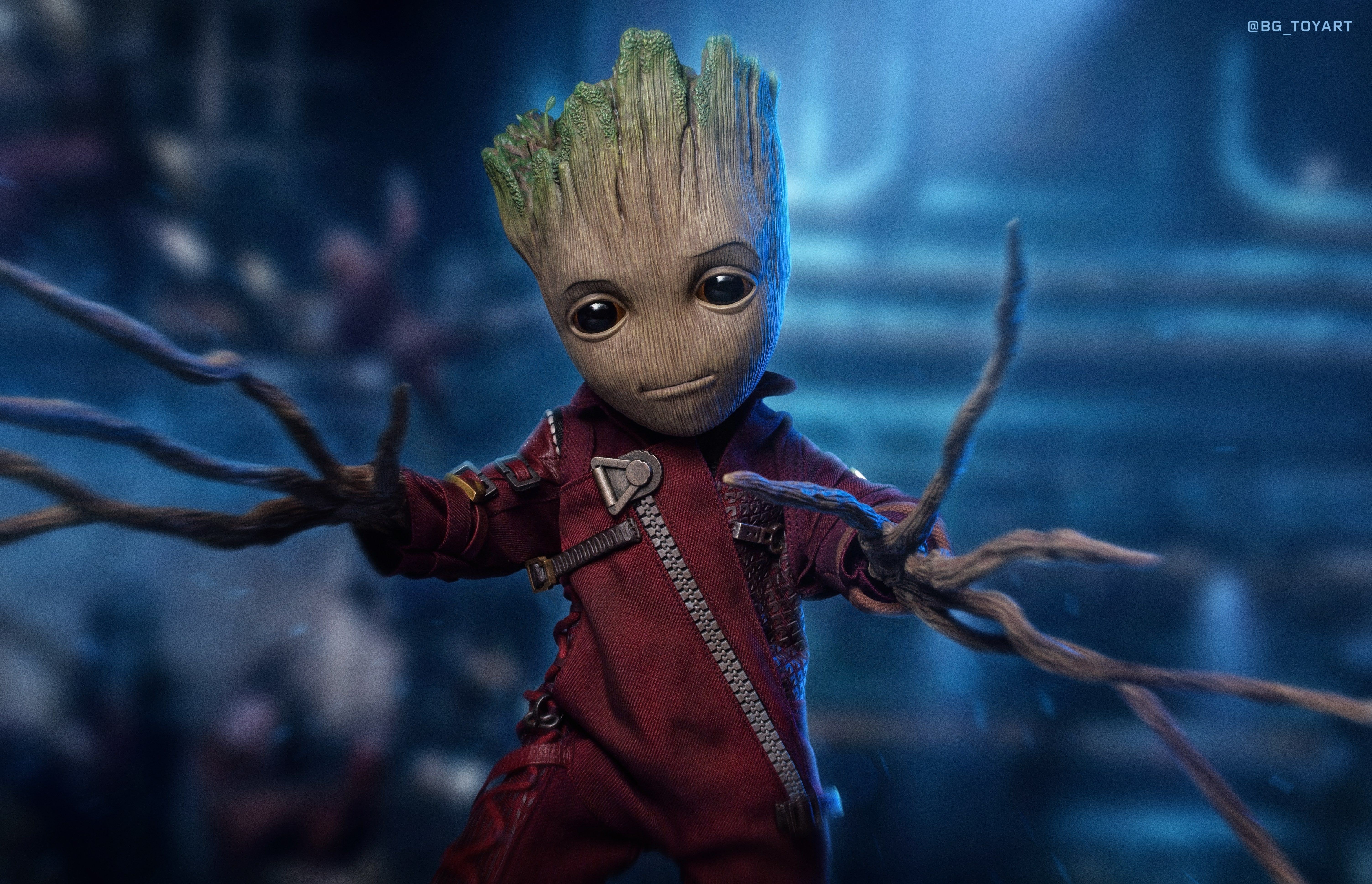 Baby Groot 5k Hd 4k Artwork Digital Art Superheroes Groot
