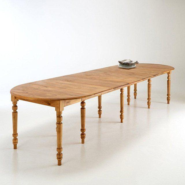 table ronde pin massif, de 4 à 16 couverts authentic style : prix