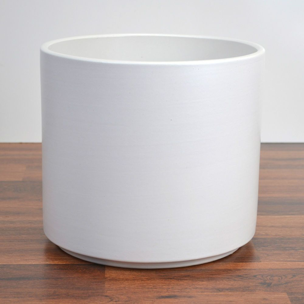 Gainey Ceramics Cylinder Planter White C 10 Architectural