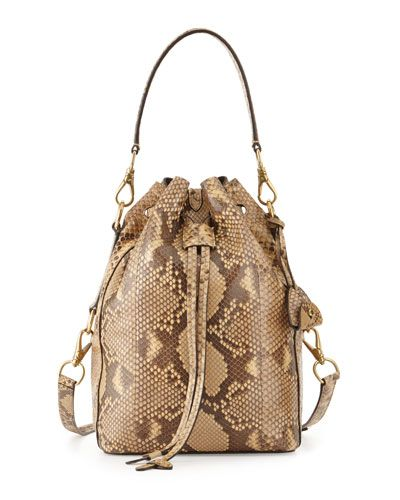 L0MKH Ralph Lauren Small Ricky Python Bucket Bag, Tan   Bags , Belts ... fd5d30272f