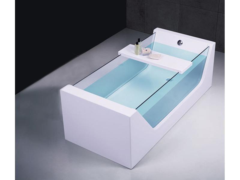 baignoire lot acrylique et verre avec tablette diva. Black Bedroom Furniture Sets. Home Design Ideas