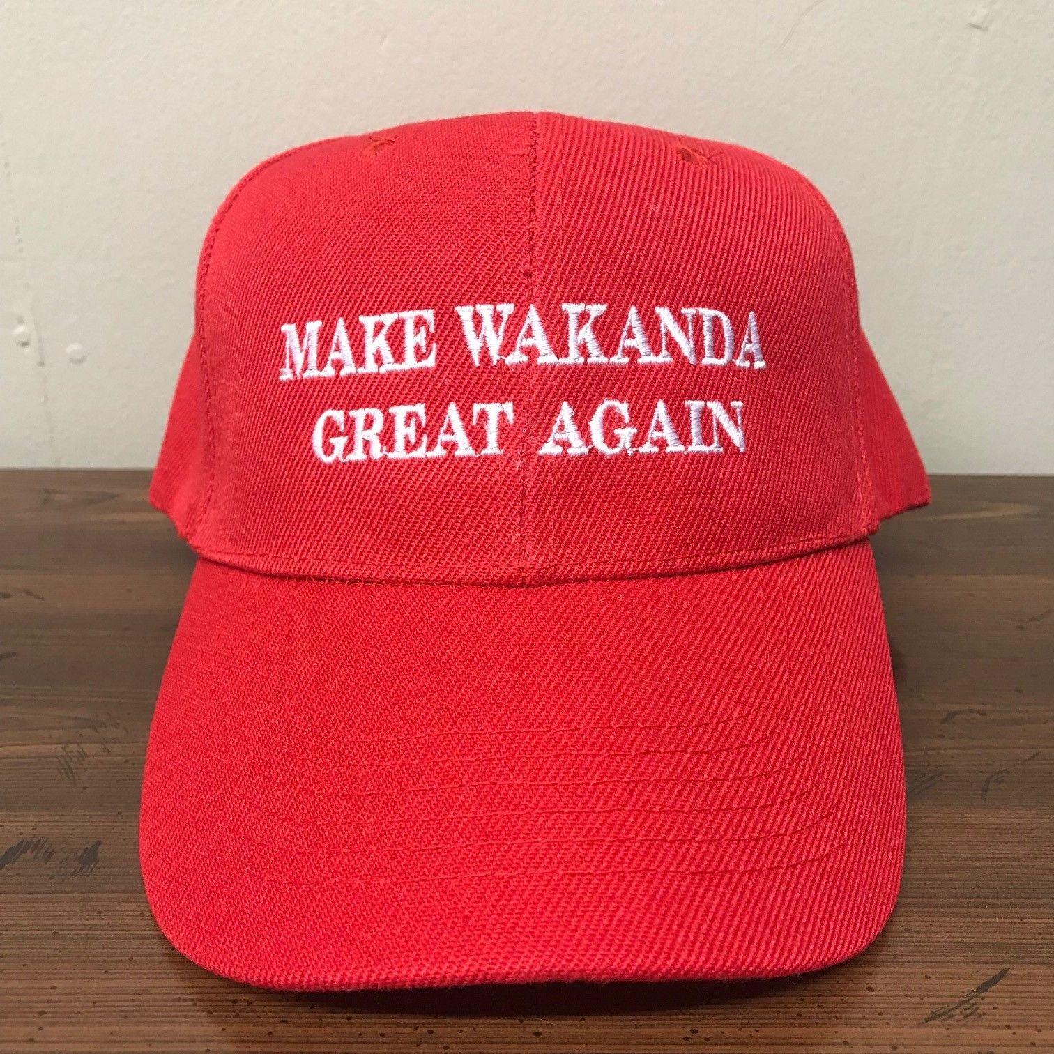 Make Wakanda Great Again Wakanda Hat Wakanda Cap Black Panther Hat Cap Red 30045acfbcf6