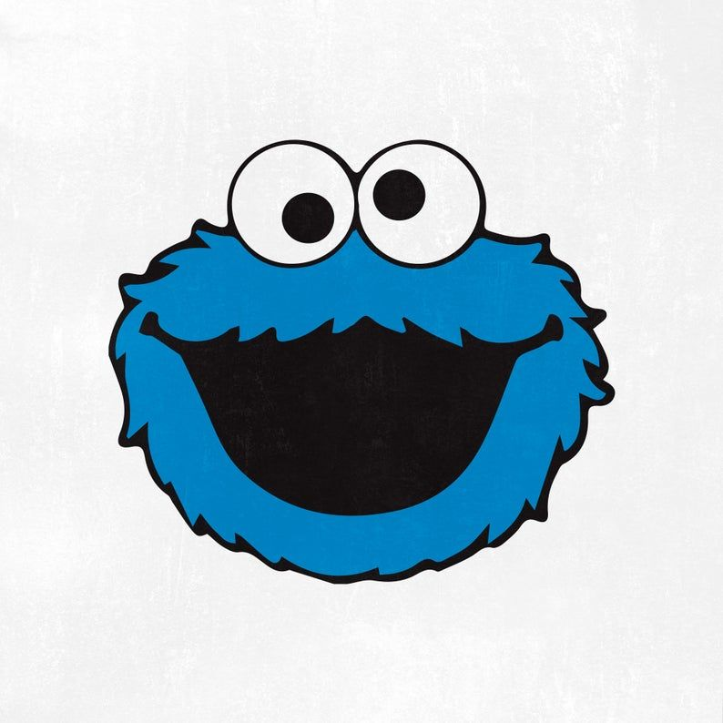 Cookie Monster Svg Cookie Monster Head Sesame Street Svg Cookie Monster Silhouette Ep Monster Cookies Cookie Monster Pictures Blue Cookies