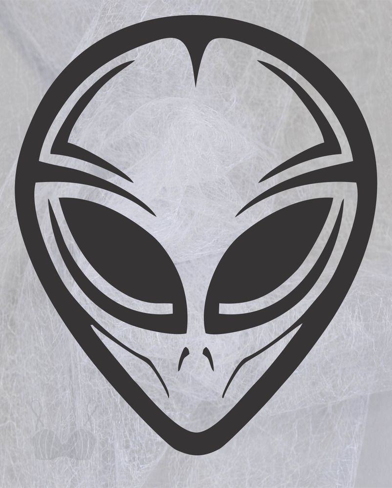 ET Alien Sticker UFO Sci-Fi Graffiti Decal Laptop Decal Skateboard PC iPad