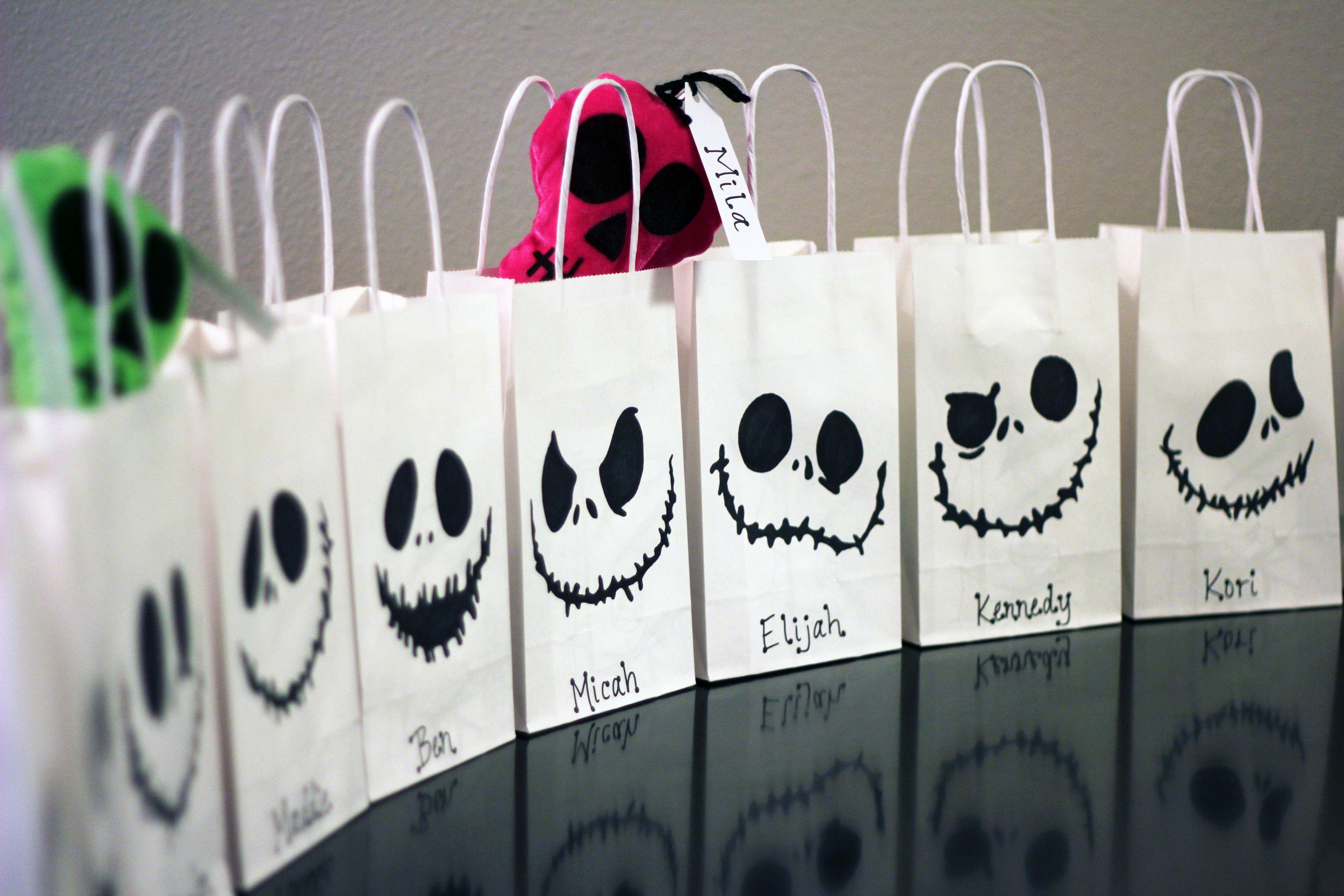 Nightmare Before Christmas Jack Skellington Goodie Bags | Pinterest ...