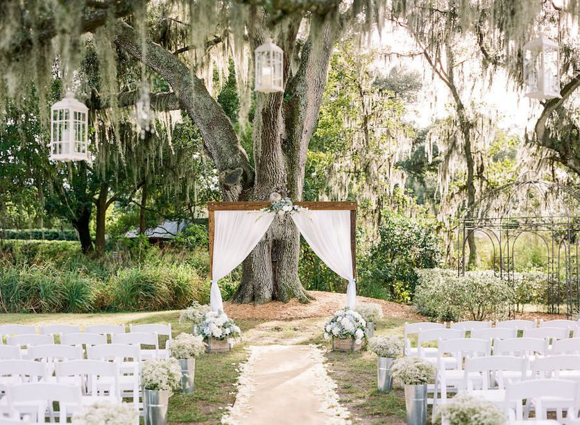 Cherished Ceremonies Weddings Tampa Wedding: Light Blue And Tan, Rustic Tampa Wedding