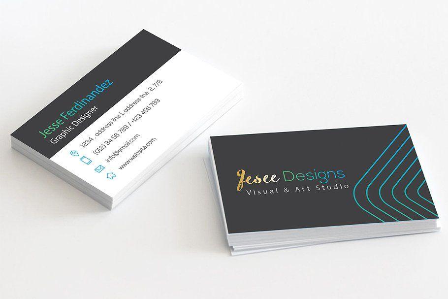 Modern Business Card Template Modern Business Cards Business Card Template Business Card Photoshop