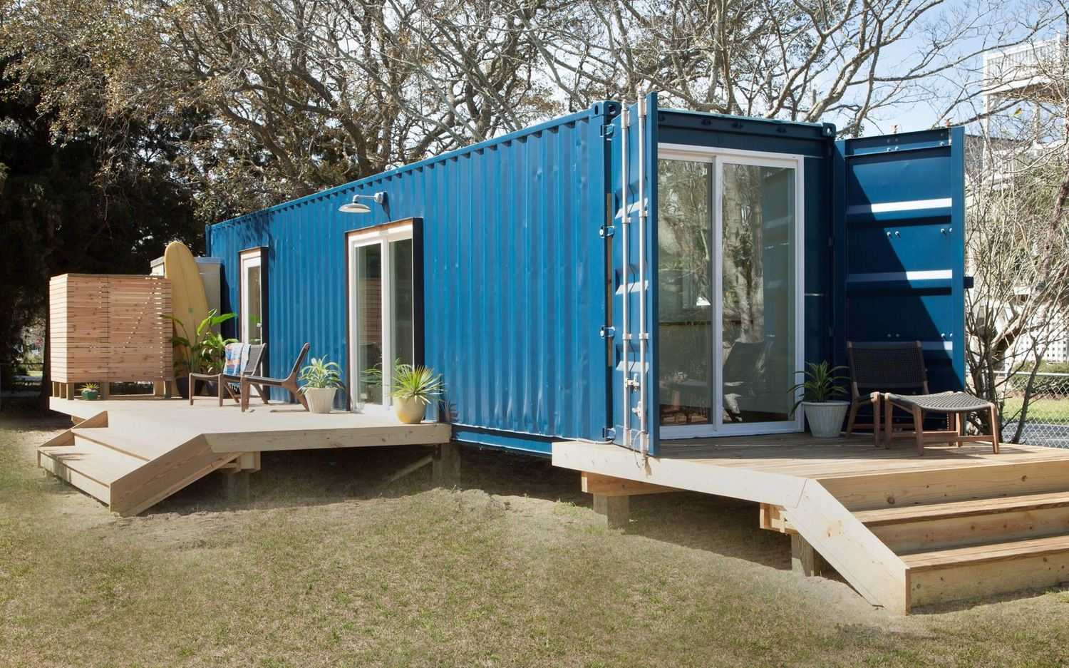 Shipping Container Turned Modern Beach Home Container House Plans Container House Container House Design