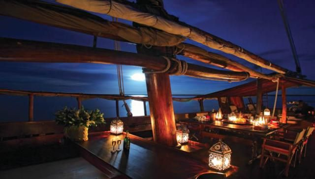 Dinner under the stars on a dhow...sailing safari