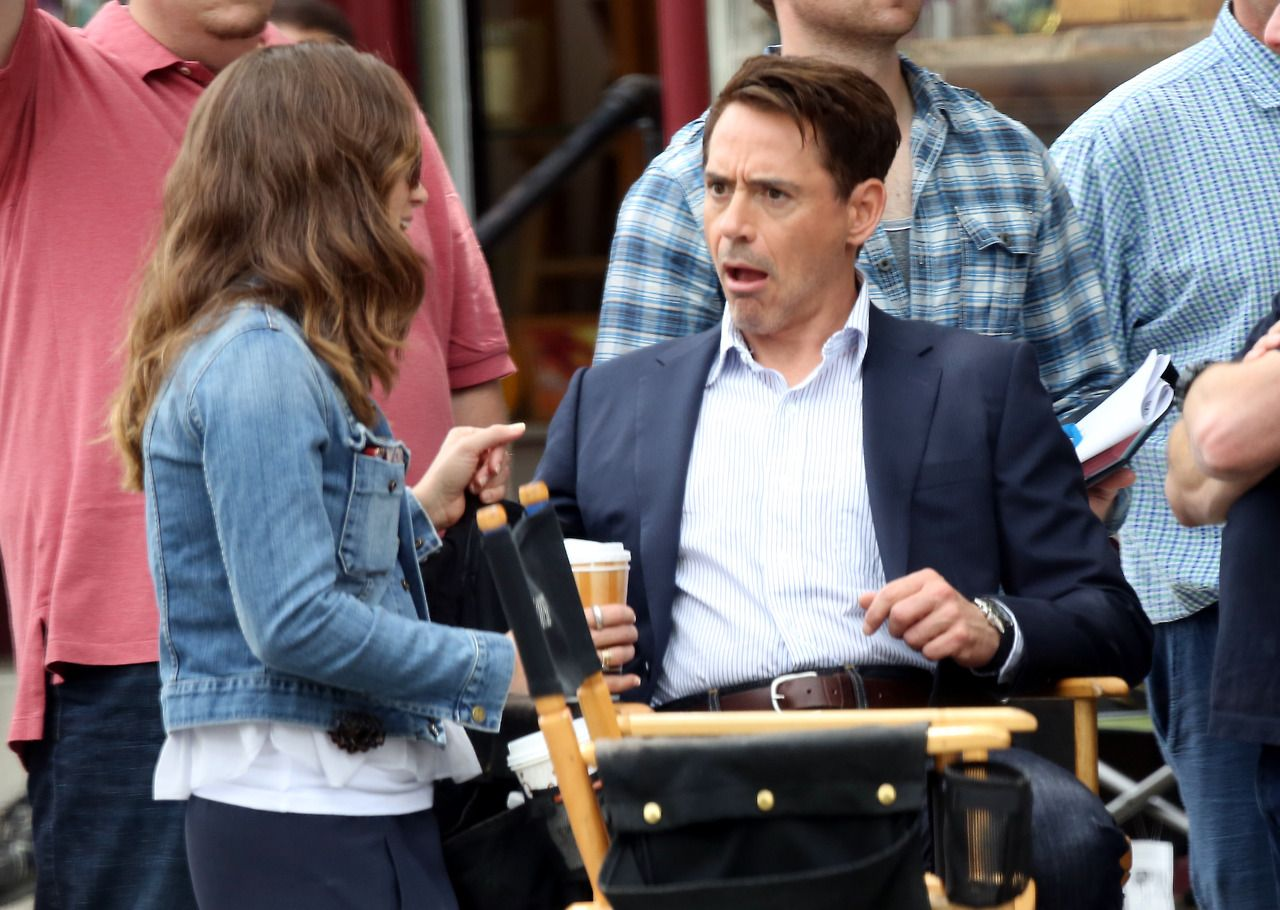 """Susan Downey and Robert Downey Jr. on location for """"The"""